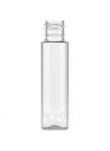 30ml PET priesvitná fľaša s 20mm hrdlom a čiernym uzáverom