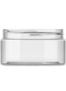 100ml Clear Plastic Jar  + 70mm neck PET plastic