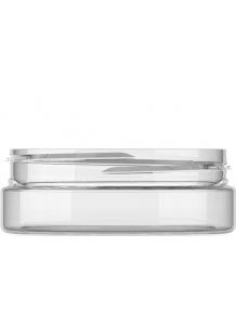 50ml Clear Plastic Jar  70mm neck