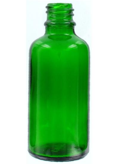 50ml sklenená zelená fľaša 18mm hrdlo