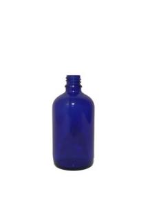 100ml sklenená modrá fľaša 18mm hrdlo