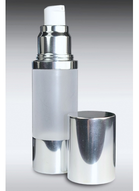 30ml Airless Dispenser With Silver/Frosted Body