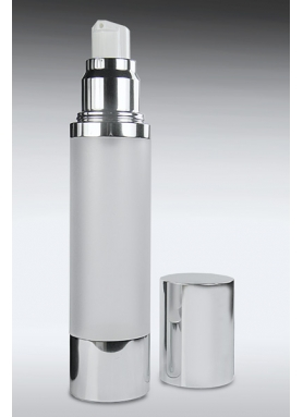 50ml Airless Dispenser With Silver/Frosted Body
