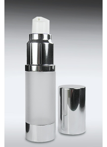 15ml Airless Dispenser With Silver/Frosted Body