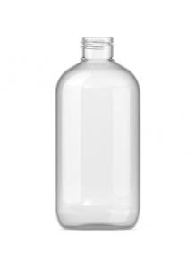 250ml priesvitná PET fľaša s 24mm hrdlom