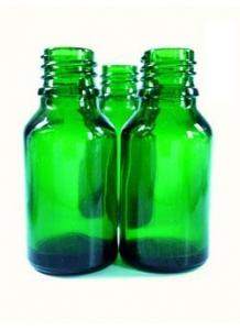 10ml sklenená zelená fľaštička 18mm hrdlo