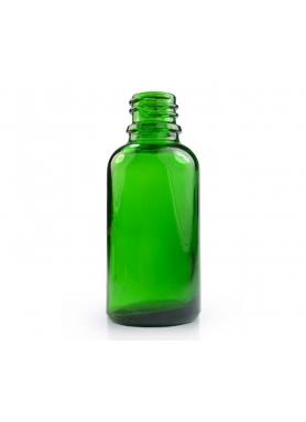 30ml green glass with aluminium cap 18mm