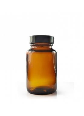 30ml Amber Glass Pharmapac Jar & 33mm Black Cap
