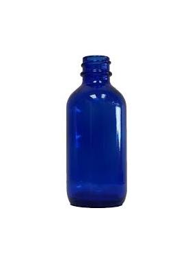 50ml sklenená modrá fľaša 18mm hrdlo