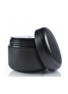 100ml Black Frosted jar with lid