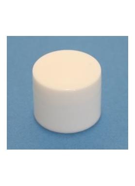 20mm white cap
