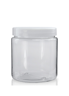 300ml priesvitné PVC balenie + 70mm biely uzáver