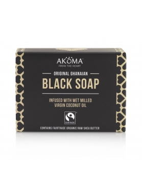Akoma Ghanaian Black Soap (Bar) with 57% Organic Shea Butter