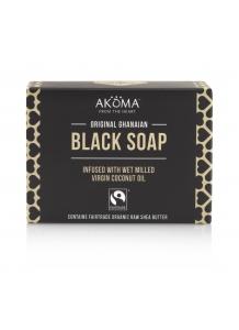 Čierne mydlo s 57% bio bambuckého masla 145g