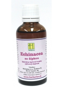 Herbárius Tinktúry Echinacea so šípkou bylinné kvapky 50ml