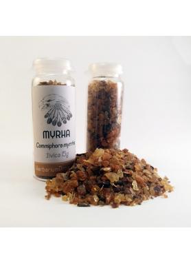 Myrha, Commiphora myrrha, živica - sklenená tuba 15g