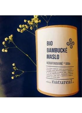 Natureal BIO bambucké maslo nerafinované 500g