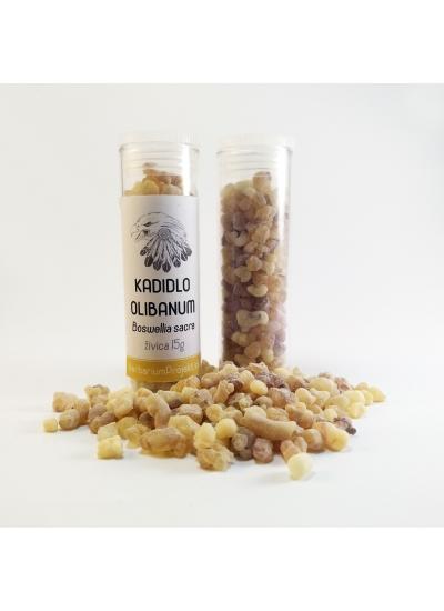 Kadidlo Olibanum, Boswellia sacra - glass tube 15g