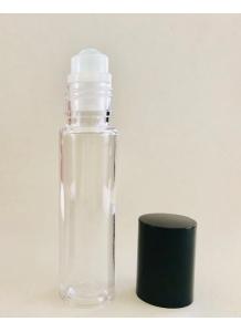 10ml priesvitný plastový roll-on s čiernym uzáverom | Roll-on
