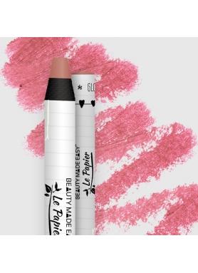 LePapier Prírodný rúž v papierovom obale lesklý, 6g – Dusty Rose