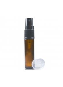 10ml Amber Glass Rollette Bottle & 17mm Black Atomiser Spray