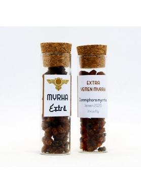 Myrha extra, Commiphora myrrha, živica - sklenená tuba 10g