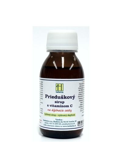 Herbárius Prieduškový sirup s vitamínom C 120g