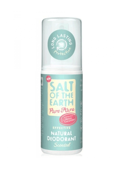 Salt of the Earth - Deo sprej Pure Aura uhorka melón 100ml