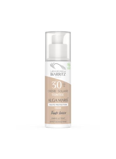 certified organic SPF30 tined face sun cream