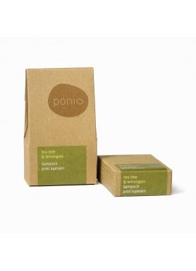 PONIO - Tea tree & lemongrass - solid anti-dandruff shampoo 60g