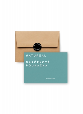 NATUREAL - Darčeková poukážka v hodnote 20 EUR