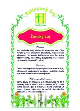HERBÁRIUS - Ženský čaj 40g