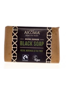 Akoma Ghanaian Black Soap with Moringa and Neem 60g