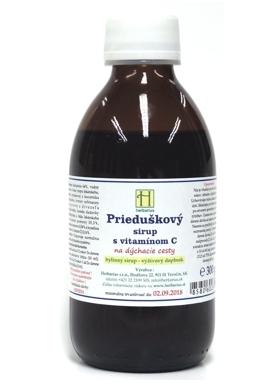 HERBÁRIUS - Prieduškový sirup s vitamínom C