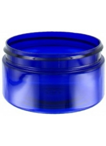 100ml Blue Plastic Jar  70mm neck