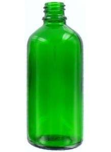100ml sklenená zelená fľaša 18mm hrdlo