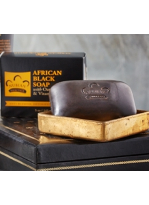 Africké čierne mydlo s vločkami a Aloe Vera 141g