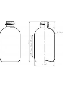 100ml priesvitná PET fľaša s 20mm hrdlom